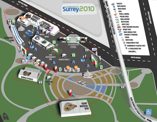 Surrey 2010 site map