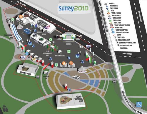 Surrey 2010 site map