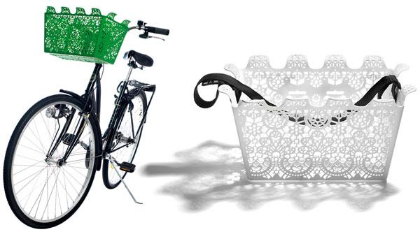 Carrie basket on bike