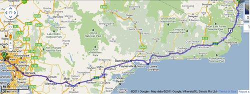 Melbourne to Merimbula