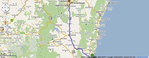 Merimbula to Canberra