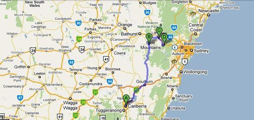 Canberra to Leura