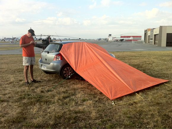 MacGyver Style Fly-In Camping