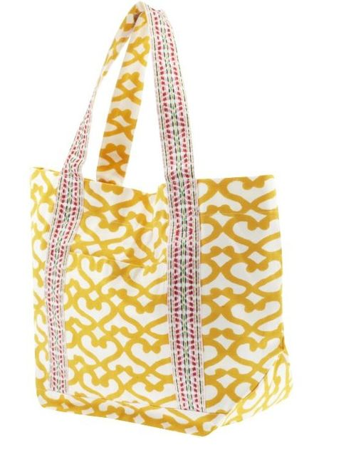 Roberta Yellow Beach Bag