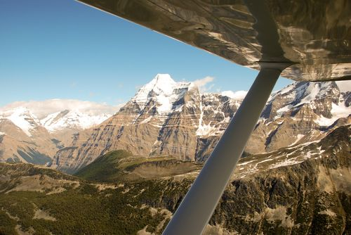 Mt Robson from plane 2010