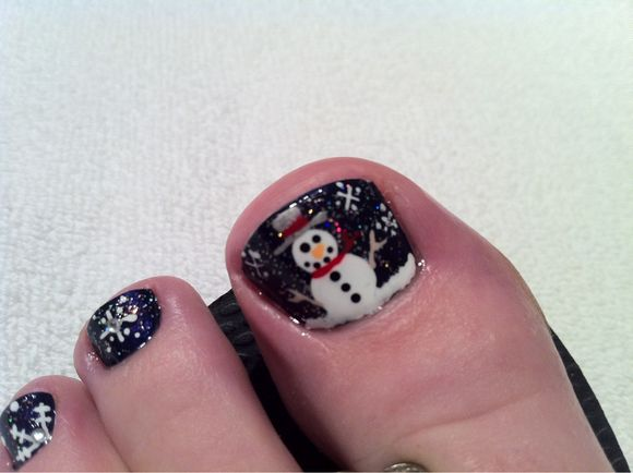 Advent Calendar Day #15 - Christmas Pedicure