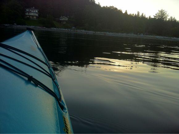 Kayak in Sargeant Bay