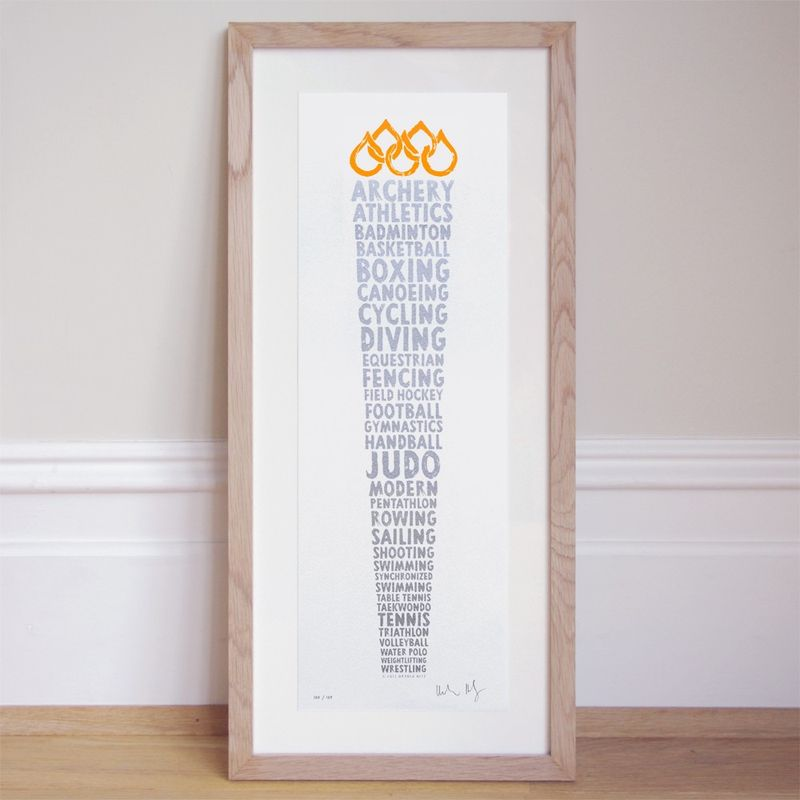 London Olympic Torch Print