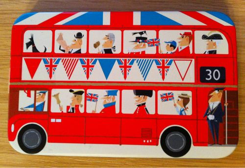London Bus chocolate tin M&S