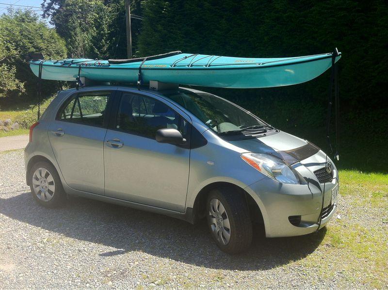 Kayak on a Toyota Yaris