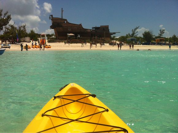 Kayaking in the Caribbean - Half Moon Cay